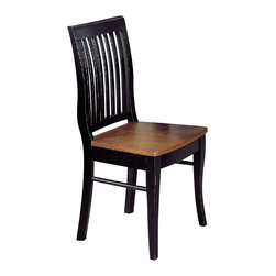 Homelegance - Homelegance Liz Side Chair in Oak - Black, Cherry - Solid wood bistro pub dining. Great for two or four persons sitting. Available in natural finish or antique black and Cherry finish.