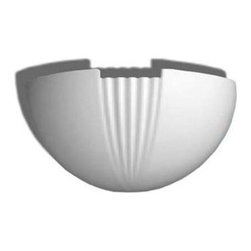 "Inviting Home - Santana Wall Sconce - Wall fixture for indirect lighting 11-7/16""H x 6-11/16""W x 5-11/16""D Paintable wall lighting fixtures point light towards the wall. Reflections from the wall light gently wash the wall surface creating a very soft pleasing highlight to the eye. This lighting fixture can be painted or faux finished. The options for customizing these lighting fixtures are endless. Wall lighting fixtures are made from a very durable material that is moisture tolerant and heat resistant so you can custom finish them with any household paint. UL approved - dry location, hardwire."