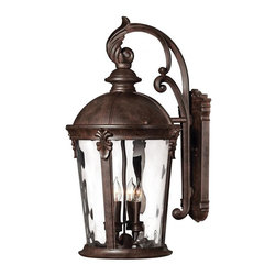 Hinkley - Hinkley Windsor One Light River Rock Wall Lantern - 1899RK-LED - This One Light Wall Lantern is part of the Windsor Collection and has a River Rock Finish. It is Outdoor Capable, and Wet Rated.