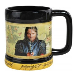 Westland - 4.25 Inch Lord of The Rings Aragorn Holding Sword 15 Oz Coffee Mug - This gorgeous 4.25 Inch Lord of The Rings Aragorn Holding Sword 15 Oz Coffee Mug has the finest details and highest quality you will find anywhere! 4.25 Inch Lord of The Rings Aragorn Holding Sword 15 Oz Coffee Mug is truly remarkable.