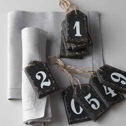 Park Hill Collections - Park Hill Collections Wooden Number Tags - What do you need numbered? These clever wooden tags let you number a variety of things. They make exceptionally clever napkin rings. Or get multiple sets and create your own perpetual calendar. Made of wood. Set includes 10 tags, each labeled with a d...