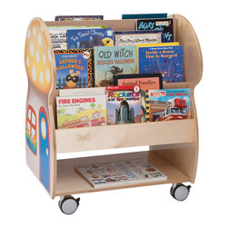 Whitneybrothers - Whitney Brothers Home Office Kids Mushroom House Book Display Organizer Stand - Nothing sparks a childs imagination like a good book, and our delightful Mushroom House Book Display adds some fairy dust to a story, too. Constructed in beautiful birch laminate in a tough, easy-to-clean Natural UV finish that wont yellow with age. Mushroom decal on both sides. Heavy duty lockable casters (included) add mobility and theres storage capacity for a huge amount of books. Made in USA. GreenGuard Certified. Lifetime Warranty.
