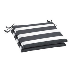 Room Essentials 2-Piece Seat Cushion Set, Gray Stripe - These seat cushions are nice to have on hand. I'd pair them with white or wood-stained chairs for a charming bistro look.