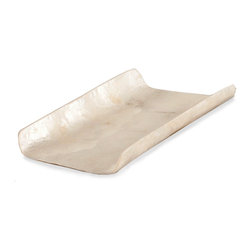 Guest Towel Tray - Ivory - Set of 2 - Keep small linens neat with this set of 2 capiz shell-adorned Guest Towel Holder. Pristine white and shimmering with the natural beauty of shells responsibly gathered in the Philippines, this two-sided box is designed to hold a perfectly-folded guest towel in a stylish case of metallic ivory. Use it to give a clean and welcoming look to your bath or guest suite along with just a slight personable twist of exotic style.