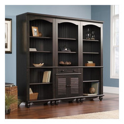Sauder - Sauder Harbor View Library Wall Bookcase in Antiqued Paint - Sauder - Bookcases - 401632401633PKG