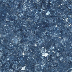 "American Fireglass Paciific Blue | 1/4-in Fire Glass | 10 Lb - AFF-PABL-10 American Fireglass 10 lbs 1/4"" Accent Gems - Paciific Blue CRYSTAL BRILLANCE - ACCENT GEMS"