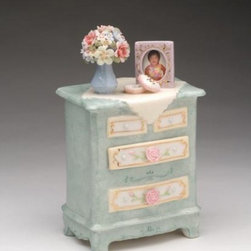 CG - 7.25 Inch Bedside Dresser Music Box Adorned with Flowers Figurine - This gorgeous 7.25 Inch Bedside Dresser Music Box Adorned with Flowers Figurine has the finest details and highest quality you will find anywhere! 7.25 Inch Bedside Dresser Music Box Adorned with Flowers Figurine is truly remarkable.
