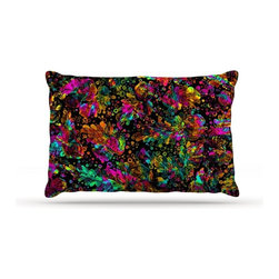 """Kess InHouse - Ebi Emporium """"Prismatic Posy IV"""" Rainbow Floral Fleece Dog Bed (50"""" x 60"""") - Pets deserve to be as comfortable as their humans! These dog beds not only give your pet the utmost comfort with their fleece cozy top but they match your house and decor! Kess Inhouse gives your pet some style by adding vivaciously artistic work onto their favorite place to lay, their bed! What's the best part? These are totally machine washable, just unzip the cover and throw it in the washing machine!"""