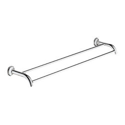 "Grohe - Grohe 40654-000 Essentials Authentic 24"" Double Towel Bar - This Essentials Authentic 24"" Double Towel Bar (40654) Comes With All The Necessary Mounting Hardware, And Features A Bright, Starlight Chrome Finish."