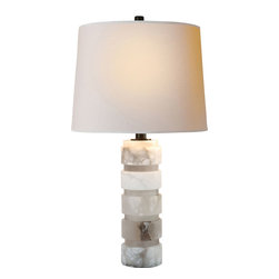 Visual Comfort & Co. - Visual Comfort & Co. CHA8945ALB-NP E.F. Chapman Chunky 1 Light Table Lamps in Al - This 1 light Decorative Table Lamp from the E.F. Chapman Chunky collection by Visual Comfort will enhance your home with a perfect mix of form and function. The features include a Alabaster Natural Stone finish applied by experts. This item qualifies for free shipping!