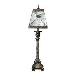 Dimond Lighting - Dimond Lighting 93-19234 Surrency Newark Bronze Table Lamp - Dimond Lighting 93-19234 Surrency Newark Bronze Table Lamp