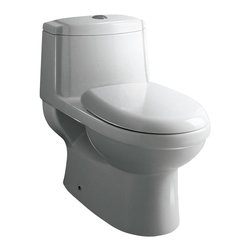 Ariel Platinum - Ariel Platinum TB222M Anna Contemporary One Piece White Toilet 27x16x24.6 - Ariel cutting-edge designed one-piece toilets with powerful flushing system. It's a beautiful, modern toilet for your contemporary bathroom remodel.