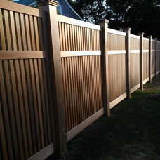 Contemporary Fencing by TradeCraft Custom Woodworking
