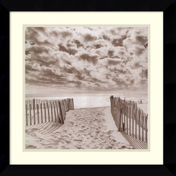"Amanti Art - ""South Beach"" Framed Print by Michael Kahn - Michael Kahn transports you to a deserted white sand beach in this gorgeous framed print. Whenever you need a second to center yourself, let your eyes fall on this calming scene."