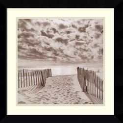Amanti Art - South Beach Framed Print by Michael Kahn - Michael Kahn transports you to a deserted white sand beach in this gorgeous framed print. Whenever you need a second to center yourself, let your eyes fall on this calming scene.