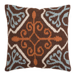 Surya Rugs - 22-Inch Square Coffee Bean Pillow Cover with Adobe, Slate Gray, and Antique Whit - - 22 x 22  80% wool and 20% Cotton Pillow Cover w/ Down Insert.   - For more than 35 years, Surya has been synonymous with high quality, innovation and luxury.   - Our designers have masterfully created some of the most cutting edge and versatile pieces to bring out the best in every room.   - Encompassing their expert understanding of the latest trends in fashion and interior design, each product is a perfect combination of color, pattern and texture to accommodate the widest range of tastes.   - With Surya, the best in design and quality is at your fingertips.   - Pantone: Coffee Bean, Adobe, Slate Gray, Antique White.   - Made in India.   - Care Instructions: Spot Clean.   - Cover Material: 80% wool/20% Cotton.   - Fill Material: Down. Surya Rugs - FA002-2222D
