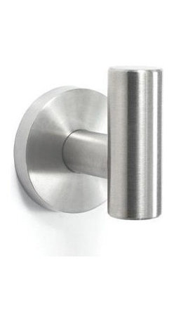 Amerock - Arrondi Stainless Steel Robe Hook Rack - Includes mounting template and mounting hardware. 1 x M5 x 0.8 38 mm flat head screw, 1 x M4 x 0.7 8 mm set screw and 1 wall mounting plate. Heavy-gauge stainless steel construction. 1-Year warranty. 1 in. L x 2 in. W x 2 in. H (0.8 lbs.)Inspired by modern, minimalist design, Arrondi™ creates clean sleek lines, lending comp temporary simplicity to any bath or powder room. 100% Stainless Steel material. Complements all Amerock® Stainless Steel cabinet hardware collections.