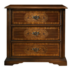 Three Drawer Inlay Chest