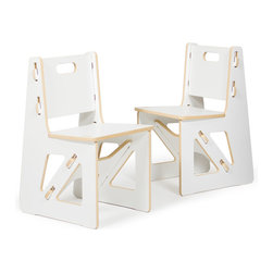 Quark Enterprises - Kids Chairs (2 Pack), White - It's a welcome relief for most eco-minded folks to invest in kids furniture that's not plastic. These chairs are solid and surprisingly easy to assemble. And you'll love mixing and matching these pieces with other Sprout products.
