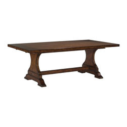 EuroLux Home - Long Solid Wood Whitney Trestle Dining - Product Details