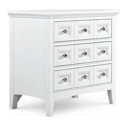 Magnussen - Kentwood 3 Drawer Nightstand Multicolor - B1475-01 - Shop for Nightstands from Hayneedle.com! The Kentwood 3 Drawer Nightstand is compact in size but big on features. You'll find touch-lighting for handy illumination and storage compartments to keep your jewelry organized. This charming nightstand features a felt-lined top drawer full-extension metal side guides and French and English dovetail construction for added strength and durability. Clean lines bright white finish and brushed-nickel drawer pulls enhance the classic casual style. For a coordinated look pair this nightstand with other pieces in the Kentwood collection.About Magnussen FurnitureFrom its beginning as a small furniture company in Ontario Canada Magnussen Furniture has evolved into a full-line furniture resource with offices in Canada the United States and the Far East. Their business is creating furniture designs of exceptional style value and beauty. They produce these designs in partnership with manufacturing partners around the world that meet exacting standards for superior quality at the best possible value.
