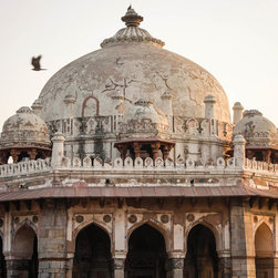 """Humayun's Tomb with Bird, 16x20"""" fine art color photograph - A dome at Humayun's tomb in New Delhi at sunset. Available as a 16x20"""" limited edition fine art photograph, printed archivally on photo rag paper. Unframed."""