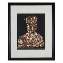 Consigned Vintage Copper Artwork, Version 1 - Stunning vintage asian man made of copper.