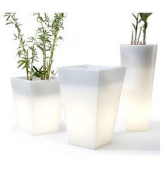 modern outdoor planters by Design Public