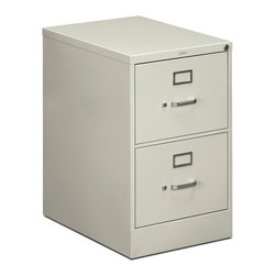 Rulers.com - HON 510 Series Vertical File - 2 Drawer - Solid steel construction makes for the perfect way to organize your private office. This 510 Series 2-drawer lateral file accommodates legal-width file folders, and includes a counterweight to provide balance and prevent tipping.