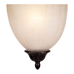Savoy House - ADA Sconces Half Moon Sconce - Sophisticated Fixture with Cream Scavo Glass and a Versatile Distressed Bronze Finish; made in accordance with the ADA