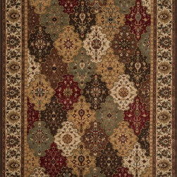 """Loloi Rugs - Loloi Rugs Stanley Collection - Multi / Beige, 5'-2"""" Round - The magnificent Stanley Collection features modern interpretations of the most sophisticated hand knotted designs. Recreated in Egypt with power loomed technology these gorgeous polypropylene area rugs offer an affordable alternative."""