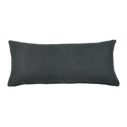 "Silver Fern Decor - Solid Charcoal-Gray Body Pillow Cover - - 20""x54"" pillow cover"