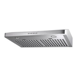Proline - Proline PLJW 185 Under Cabinet Range Hood, 30 - This brand new range hood model is exactly what our customers have been asking for! Finally, an under cabinet range hood that's ultra-slim, with a height of only 5 inches. And with our powerful 600 CFM dual blower pre-installed and ready to use, this hood has everything you need to get the job done. Additional Note: This Model can be vented out the top or the back by removing the rear panels!