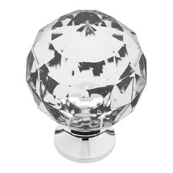 Liberty Kitchen Cabinet Hardware - Victorian Victorian Acrylic Round Faceted Kno -