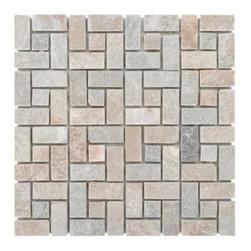 Golden Harvest Pinwheel Slate Mosaic -