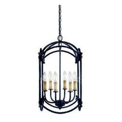 Hastings 6 Light Pendant - 6 - 60w C