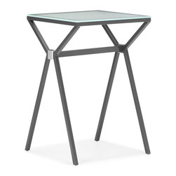 Zuo Modern - Zuo Xert Counter Table in Gray - Counter Table in Gray belongs to Xert Collection by Zuo Modern Relax and sip on a martini with our Xert bar series. Table has a painted glass top on a sturdy steel base. Perfect for entertaining in style. Counter Table (1)