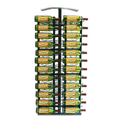 VintageView - VintageView 24 Bottle Island Display Metal Wall Mounted Wine Rack - (RequiresIDR4 Island Display Rack) Utilize the space on the end of your Island Display Rack. Includes endcap frame and two WS41 racks.