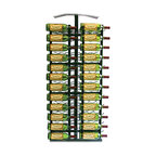 VintageView - VintageView 24 Bottle Island Display Metal Wall Mounted Wine Rack - Utilize the space on the end of your island display rack. Includes endcap frame and two WS41 racks (RequiresIDR4 island display rack)