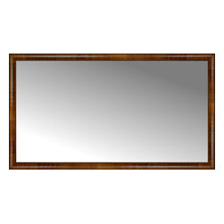 """Posters 2 Prints, LLC - 66"""" x 37"""" Belmont Light Brown Custom Framed Mirror - 66"""" x 37"""" Custom Framed Mirror made by Posters 2 Prints. Standard glass with unrivaled selection of crafted mirror frames.  Protected with category II safety backing to keep glass fragments together should the mirror be accidentally broken.  Safe arrival guaranteed.  Made in the United States of America"""