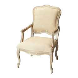 Butler Furniture - Driftwood Accent Chair - What sets this accent chair apart? It's the finer points, starting with the eye-catching silhouette and distressed driftwood finish down to the cabriole legs that end in elegant scroll feet. From top to bottom this accent chair is in a league of its own and a ready complement to your traditional or contemporary settings.