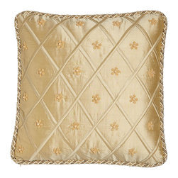 """Austin Horn Collection - Pieced Pillow with Brush Fringe 20""""Sq. - PAPARIKA/BEIGE (20"""") - Dian Austin Couture HomePieced Pillow with Brush Fringe 20""""Sq.Designer About Dian Austin Couture Home:Taking inspiration from fashion's most famous houses of haute couture the Dian Austin Couture Home collection features luxurious bed linens and window treatments with a high level of attention to detail. Acclaimed home designer Dian Austin introduced the collection in 2006 and seeks out extraordinary textiles from around the world crafting each piece with local California artisans."""