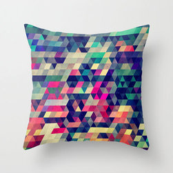 Pixellated Pillow Cover - Inspired by the look of pixelation, this pillow cover is an ultramodern statement in style. Made of 100% polyester poplin, each double-sided pillow cover has been individually cut and sewn by hand. And with its concealed zipper closure the cover is easily removed while looking seamlessly sleek from any angle.
