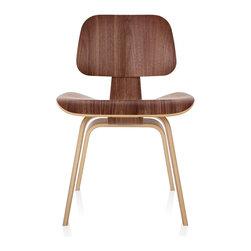 Herman Miller - Herman Miller Eames Molded Plywood Dining Chair Wood Base - The Molded Plywood Dining Chairs offer the same exceptional comfort and enduring style as the lounge chairs. But they're sized to work at the table.