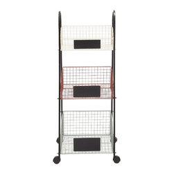 Simply Useful Metal Storage Cart - Description: