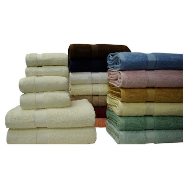 """Bed Linens - 6-Pc Solid combed Towel Set Chocolate - *100% Egyptian combed cotton Pile *Reactive Dye *650 grams per Bath These Combed, extra absorbent, incredibly soft towels will look and feel great wash after wash. 100% Egyptian cotton towels are woven from the highest quality extra long staples, giving them their beautiful texture and long lasting durability. 6-PC Set Includes: 2-Washcloth 13"""" x 13"""". 2-Hand towel 16"""" x 30"""". 2-Over sized Bath towel 30"""" x 56"""". Machine wash."""