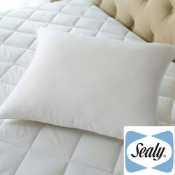 Sealy Posturepedic - Sealy Posturepedic Posture Fit Stomach Sleeper Pillow - The Sealy Posturepedic Posture Fit stomach sleeper uses a specially designed tailored shell to allow for easier usage. All four sides have been cut to allow the fabric to bow inwards to allow easier air movement.