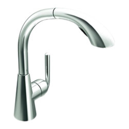 Moen - Moen S71709 Chrome High Arc Pullout Kitchen Faucet Single Lever Handle, ADA - The Ascent collection has a bold, simple elegance that enlivens the room and invigorates the spirit. It features a clean, precise, and undeniably contemporary look for any modern home.