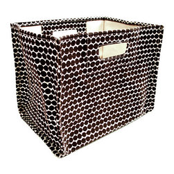 Espresso Beads Storage Box - Pile these soft, collapsible bins with toys, mittens and scarves, magazines, or anything else that could stand to be stored. And they come in enough colors to match with any decor.