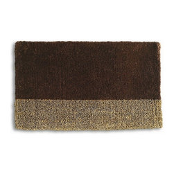Tag Everyday - Two-Tone Coir Mat in Chocolate (Chocolate) - Color: ChocolateStylish, functional and eco-friendly. Printed with pigment dyes. Best maintained under a protected area. Can be shaken, brushed or vacuumed clean. Made from natural hardy coconut fibers. 30 in. L x 18 in. WCreates a welcoming entrance to your home. To maintain color vibrancy of your mat it should not be exposed to rain or direct sunlight for long periods of time.